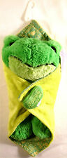 Prayer Buddies Frog Green Plush Blanket Sound Jesus Loves Me Stuffed Animal Toy
