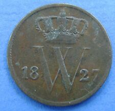 1827 Nederland - The Netherlands 1 cent 1827 B  Willem 1. KM# 47