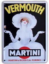 MARTINI WHITE LADY Small Vintage Metal Tin Pub Sign