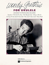 """""""WOODY GUTHRIE FOR UKULELE"""" 20 SONGS TO STRUM & SING-MUSIC BOOK-NEW ON SALE-UKE!"""