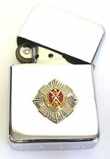 THE ROYAL SCOTS REGIMENT BADGED  WINDPROOF CHROME PLATED LIGHTER