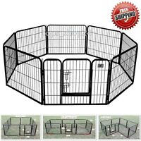 Pet Playpen Dog Cat Fence Exercise Pen Play Yard Heavy Duty Panel Puppy Kennel