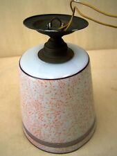 Vecchio Lampada sospensione,30 Di 1940 Anni lampada,Vetro In ottone Art Deco