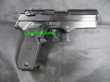 NEW ITALY BLACK HEAVY METAL REPLICA BERETTA FILM PRO TV MOVIE PROP PISTOL GUN