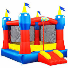 Outdoor Inflatable Castle Bounce House Jumper Moonwalk Slide Might Super Kids