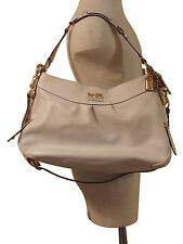Coach Madison Leather Handbag Parchment Ivory Dustbag Included