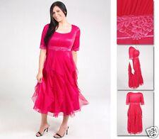 NEW!  Zaftique GALA DRESS Hot PINK 00Z 0Z 1Z 2Z 3Z 4Z / 12 14 M L XL 1X 2X 3X 4X