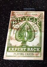 Bicycle Expert Back Green Playing Cards Deck New Rare