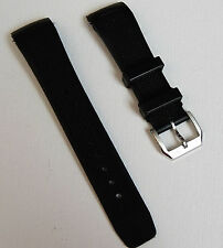 22mm Black Rubber Diver Watch Band Strap For AQUATIMER Curved End