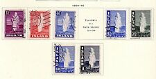 Iceland - Selection from 1938-47 'Geyser' set. Scott #203-208B USED