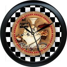"Personalized French Chef 10.75"" Kitchen Wall Clock Gift"