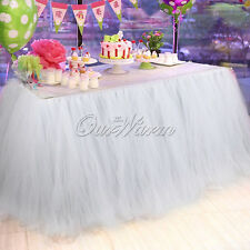 US 100*80CM TUTU Table Skirt Tableware For Wedding Party Xmas Baby Shower Decor
