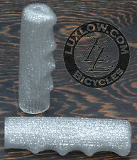 Silver Sparkle Vintage Schwinn Stingray T Bike Grips Lowrider Bicycle Cruiser