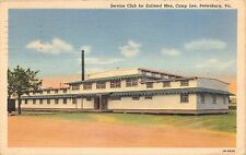 PETERSBURG VIRGINIA MILITARY CAMP LEE SERVICE CLUB FOR ENLISTED POSTCARD c1942