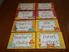 8 Farm Laminated Behavior Clip Chart Cards.  Classroom supplies and accessories
