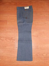 New 70's Vintage Mann Pants Boy/Girl 11 Regular Unisex Flare Hippie Blue Jeans!