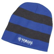 Yamaha Racing Striped Beanie in Blue/Charcoal - One Size - Brand New