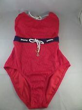 NWT Sperry Top-Sider Womens Ahoy Matey Halter 1pc Swimsuit Sz M MSRP $110