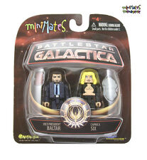 Battlestar Galactica Minimates Series 2 Vice President Baltar & Caprica Six