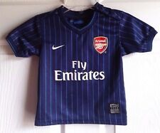 NIKE TODDLER FLY EMIRATES PINSTRIPED V-NECK NAVY BLUE JERSEY SZ 6-9 MOS