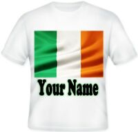 Kids BOYS GIRLS Personalised Ireland irish Sublimation T Shirt Great Gift