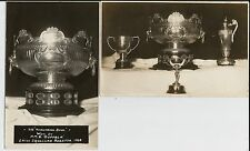 Yokohama Bowl won by HMS Suffolk in China 1928 on two fine real photo postcards