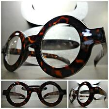 VINTAGE RETRO Style Clear Lens EYE GLASSES Round Thick Tortoise Fashion Frame