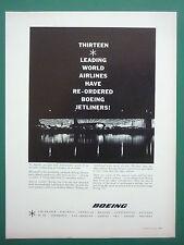 5/1961 PUB BOEING 727 AIRLINER 13 AIRLINES EL AL PAN AM TWA BRANIFF ORIGINAL AD