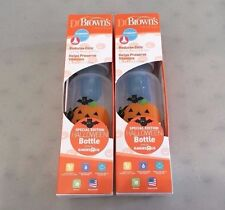 Lot of 2 DR. BROWNS Natural Flow 8 oz SPECIAL EDITION Holiday HALLOWEEN Bottle