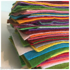Wool Blend Felt Fabric Scrap Pack - 50g offcuts - mixed colours & sizes