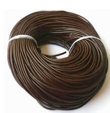 3 Meter  Coffee Leather Necklace Charms Rope String Cord 2.0 mm