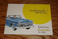 1952 Ford Sunliner Convertible Foldout Sales Brochure 52
