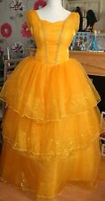 BEAUTY AND THE BEAST LIVE ACTION MOVIE BELLE DRESS COSTUME 12 14 EMMA WATSON