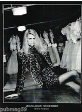 Publicité Advertising 1990 Haute couture Jean Louis Scherrer par Bettina Rheims