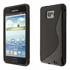 Samsung Galaxy S2 i9100 S2 Plus i9105 Coque de protection noir housse case cover