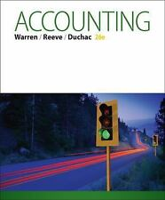 Accounting (US HARDCOVER STUDENT 26th Edition; ISBN-13:9781285743615)