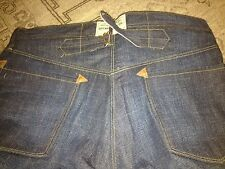 RRL DOUBLE RL BUCKLE BACK unwashed extra rise overalls straight leg sz *36/34