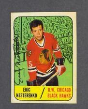 Eric Nesterenko signed Chicago Blackhawks 1967-68 Topps hockey card