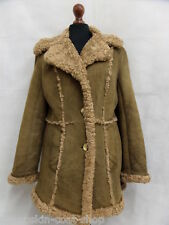 Women's Chunky Wool Sheepskin Coat Size 12 SS3371
