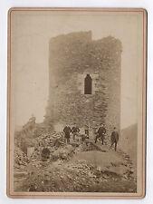 PHOTO CABINET Ruine médiévale Tour Château de Rochetaillée 1889 Saint Étienne