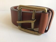 NEW COACH 67422 MENS LEATHER LG ROLLER STORY PTCH FAWN BROWN LUXURY BELT W 30""