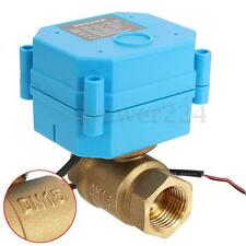 DN15 G1/2'' DC12V 2 Way CR01 2 wire Brass Copper Motorized Ball Electrical Valve