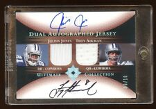 2005 ULTIMATE TROY AIKMAN / JULIUS JONES DUAL AUTO JERSEY #D /10  MINT COWBOYS