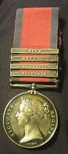 EXTREMELY RARE NAMED SILVER PENINSULAR WAR MEDAL 1793-1814 WITH 4 BARS