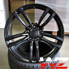20 inch 437 Style Wheels Satin Black Fits BMW 3 4 5 6 Series M3 M4 M5 M6