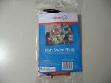"24"" Inflatable Fish Swim Ring (orange), Brand New & Sealed, for ages 4+"