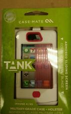 Case-Mate tank with clip WHITE and PINK for Iphone 4/4s 100% authentic
