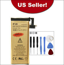 2680mAh High-Quality Gold Replacement Battery for Apple iPhone 4S + 8 in 1 Tools