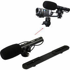 3.5mm Audio Plug Stereo Microphone MIC+Bracket fr Digital Camera Video Camcorder