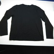 HUGO BOSS LONG SLEEVE DESIGNER TEE T SHIRT Sz Mens L Black